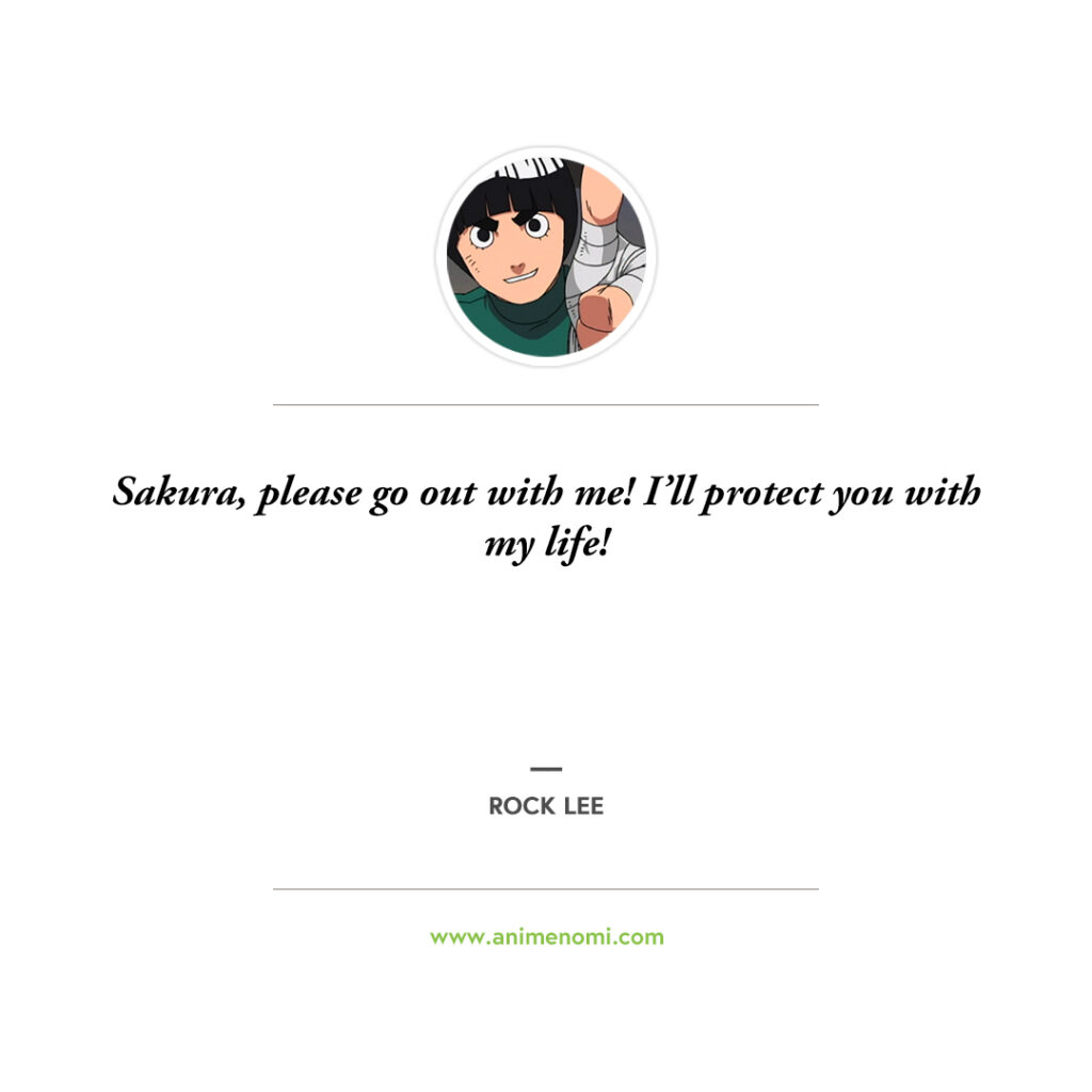 14 Awesome Rock Lee Quotes To Remember From The Naruto Anime Quote 6