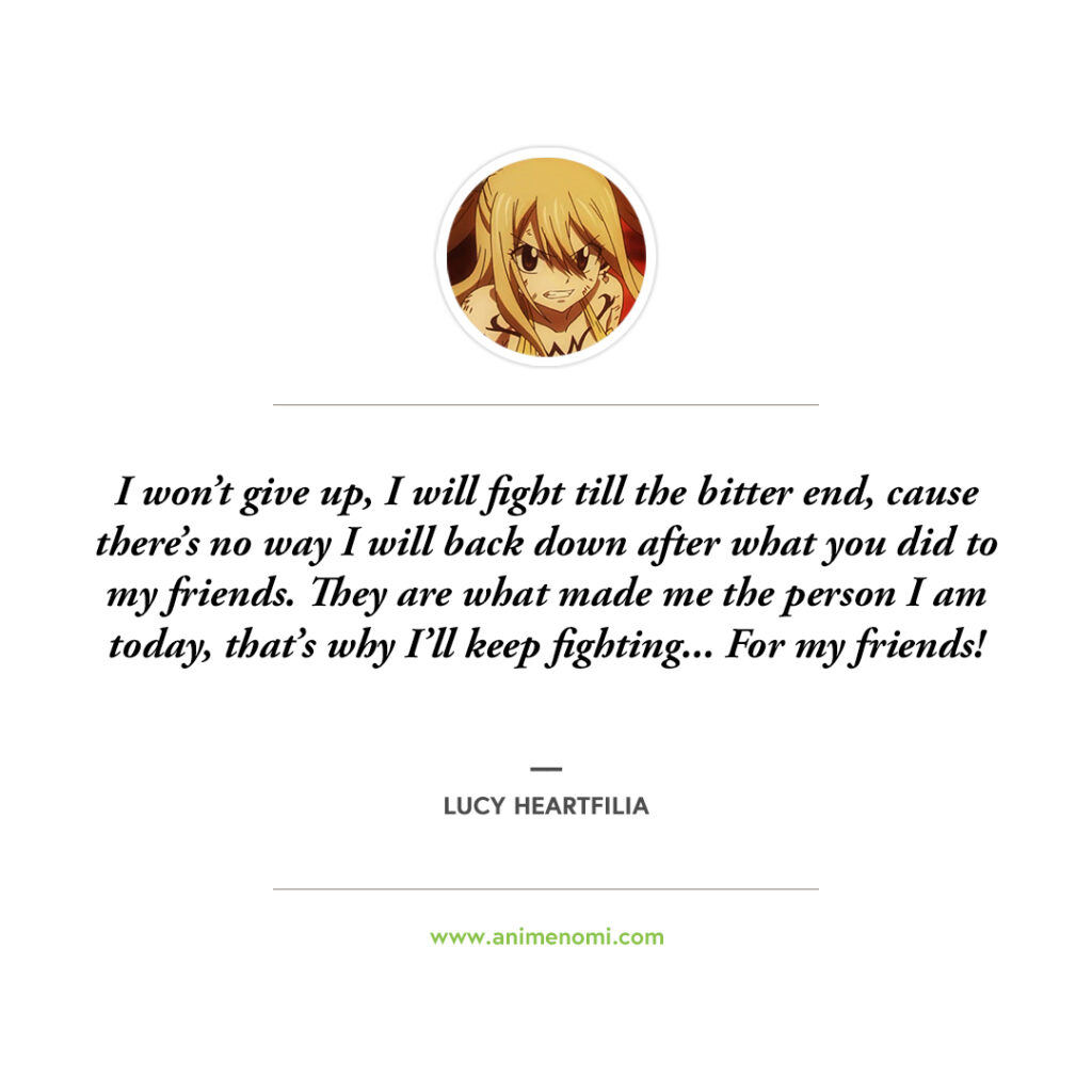 14 Lucy Heartfilia Quotes That Are Bound To Make You Cry Quote 12